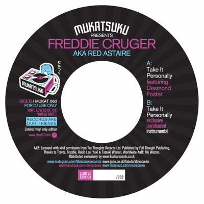 "Freddie Cruger/TAKE IT PERSONALLY 7"""
