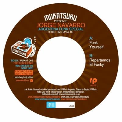 "Jorge Navarro/FUNK YOURSELF 7"""