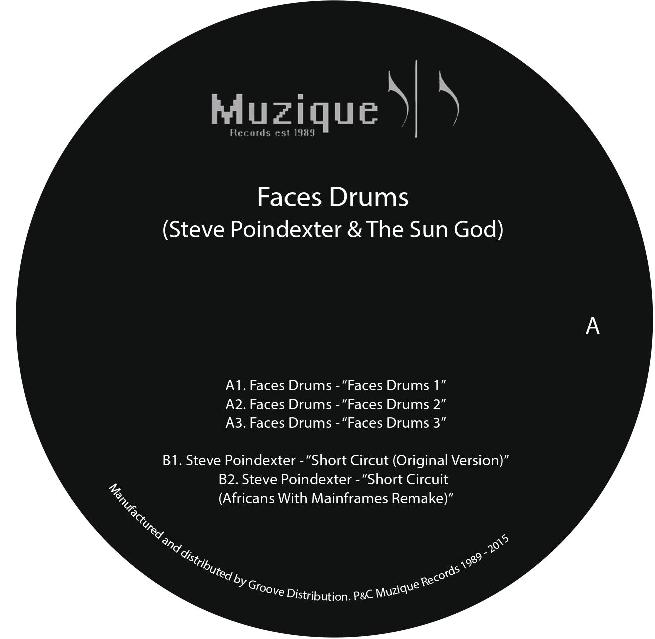 """Faces Drums & Steve Poindexter/SPLIT 12"""""""
