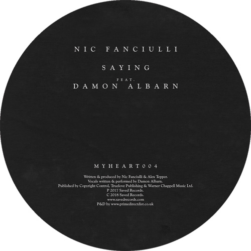 Nic Fanciulli ft. Damon Albarn/SAYING 7""