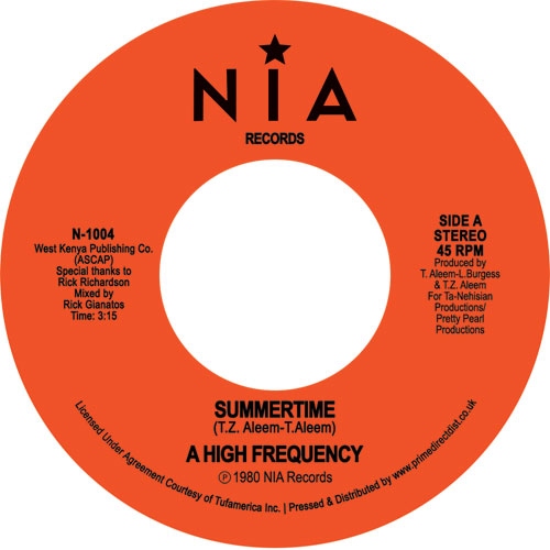 High Frequency/SUMMERTIME 7""