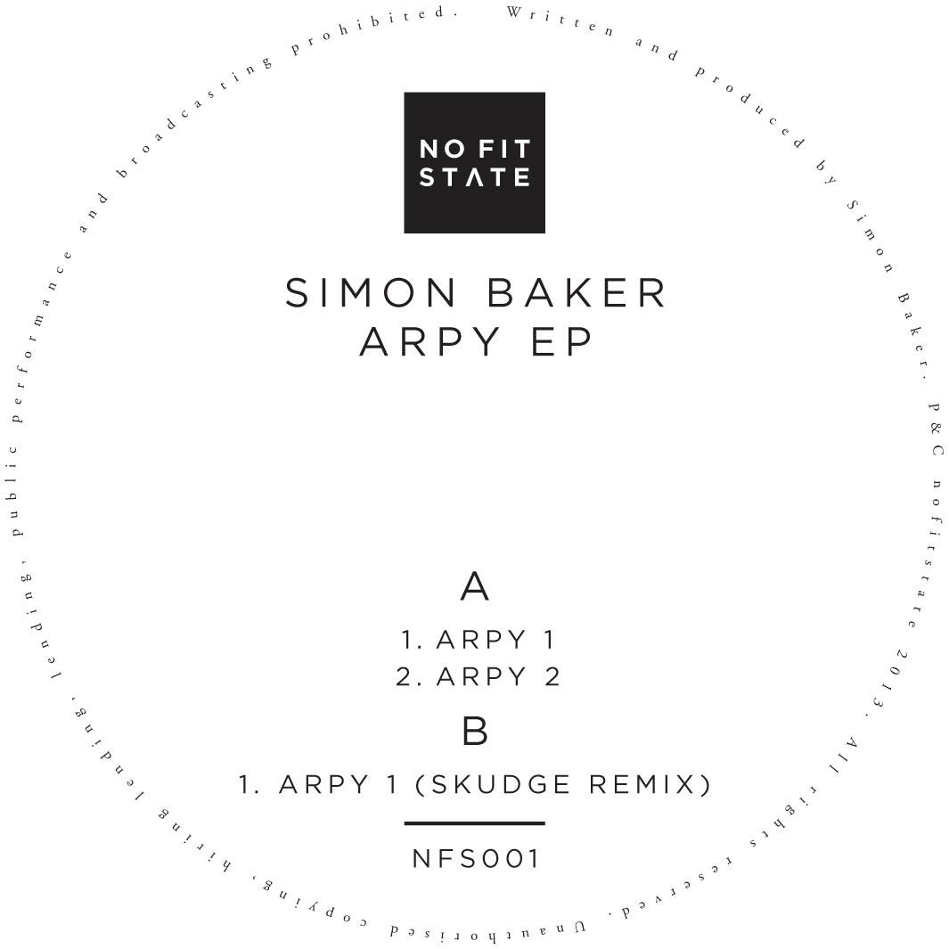 "Simon Baker/ARPY EP (SKUDGE REMIX) 12"""