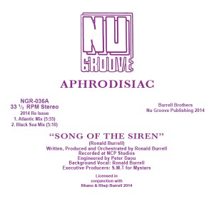 "Aphrodisiac/SONG OF THE SIREN 12"""