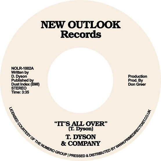 """T. Dyson & Company/IT'S ALL OVER 7"""""""