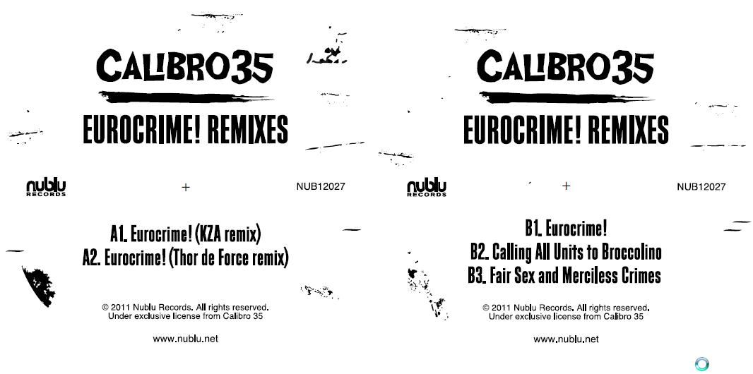 Calibro 35/EUROCRIME! REMIXES EP 12""