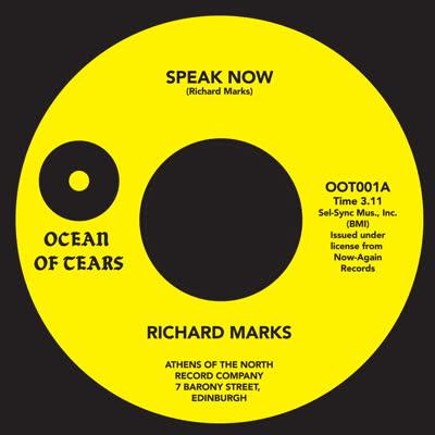 """Richard Marks/SPEAK NOW 7"""""""