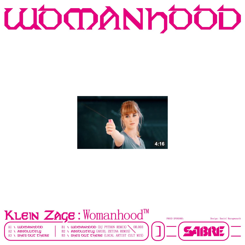 """Klein Zage/WOMANHOOD EP 12"""""""