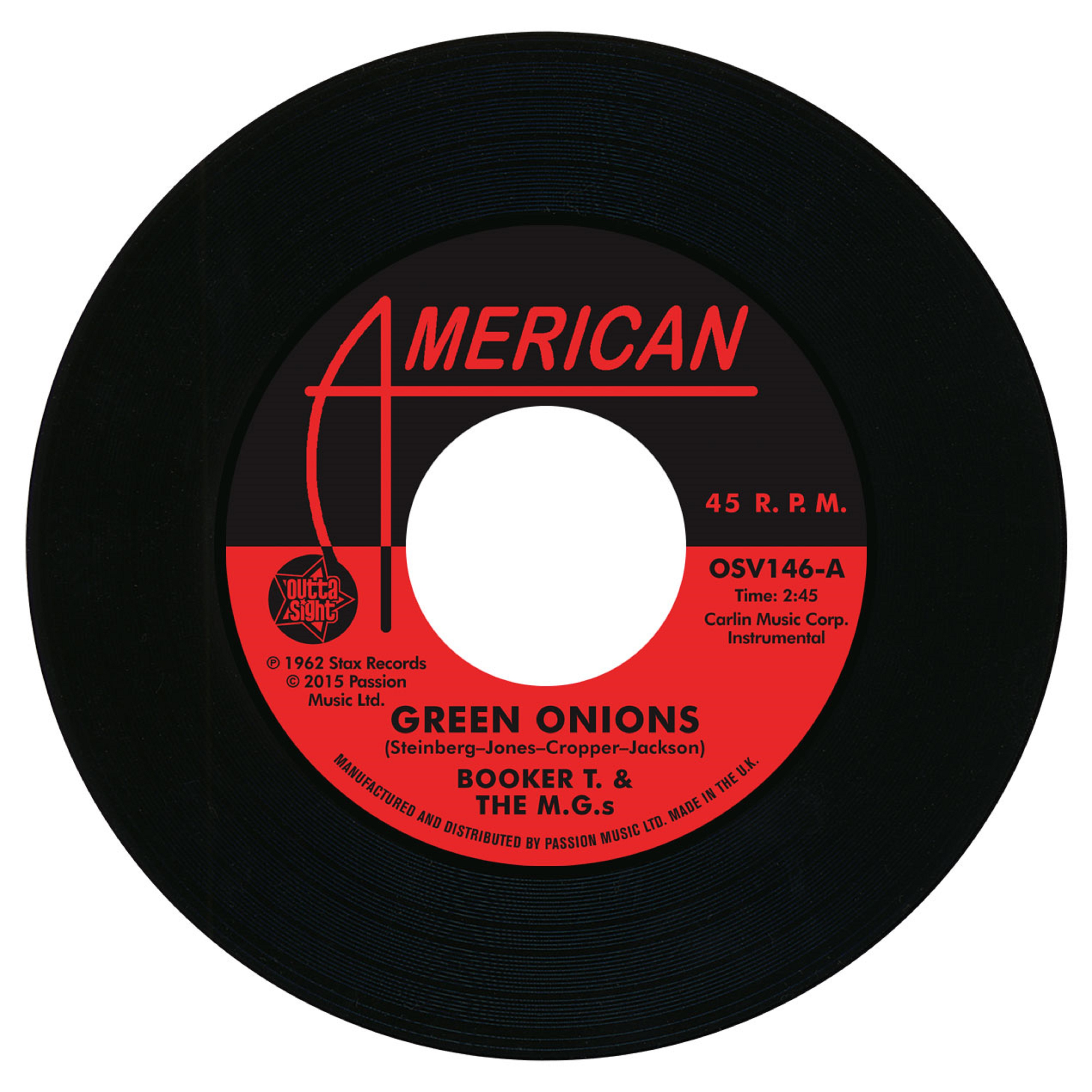 Booker T & The MGs/GREEN ONIONS 7""