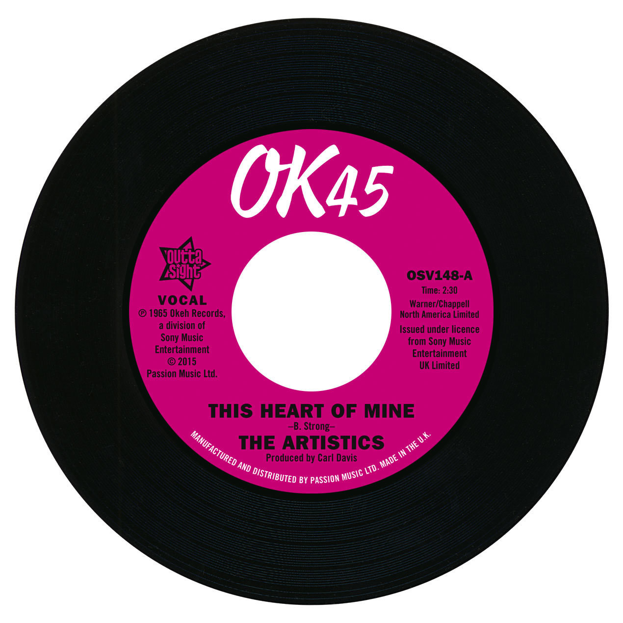 Artistics, The/THIS HEART OF MINE 7""