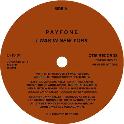 """Payfone/I WAS IN NEW YORK 12"""""""