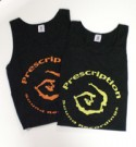 Prescription Tank/BLACK & ORANGE