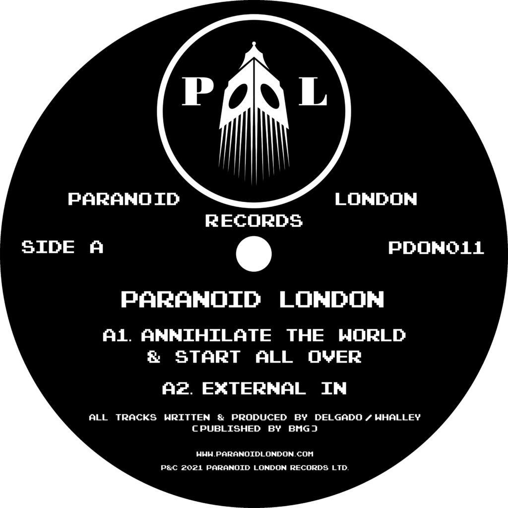 "Paranoid London/ANNIHILATE... EP 12"""