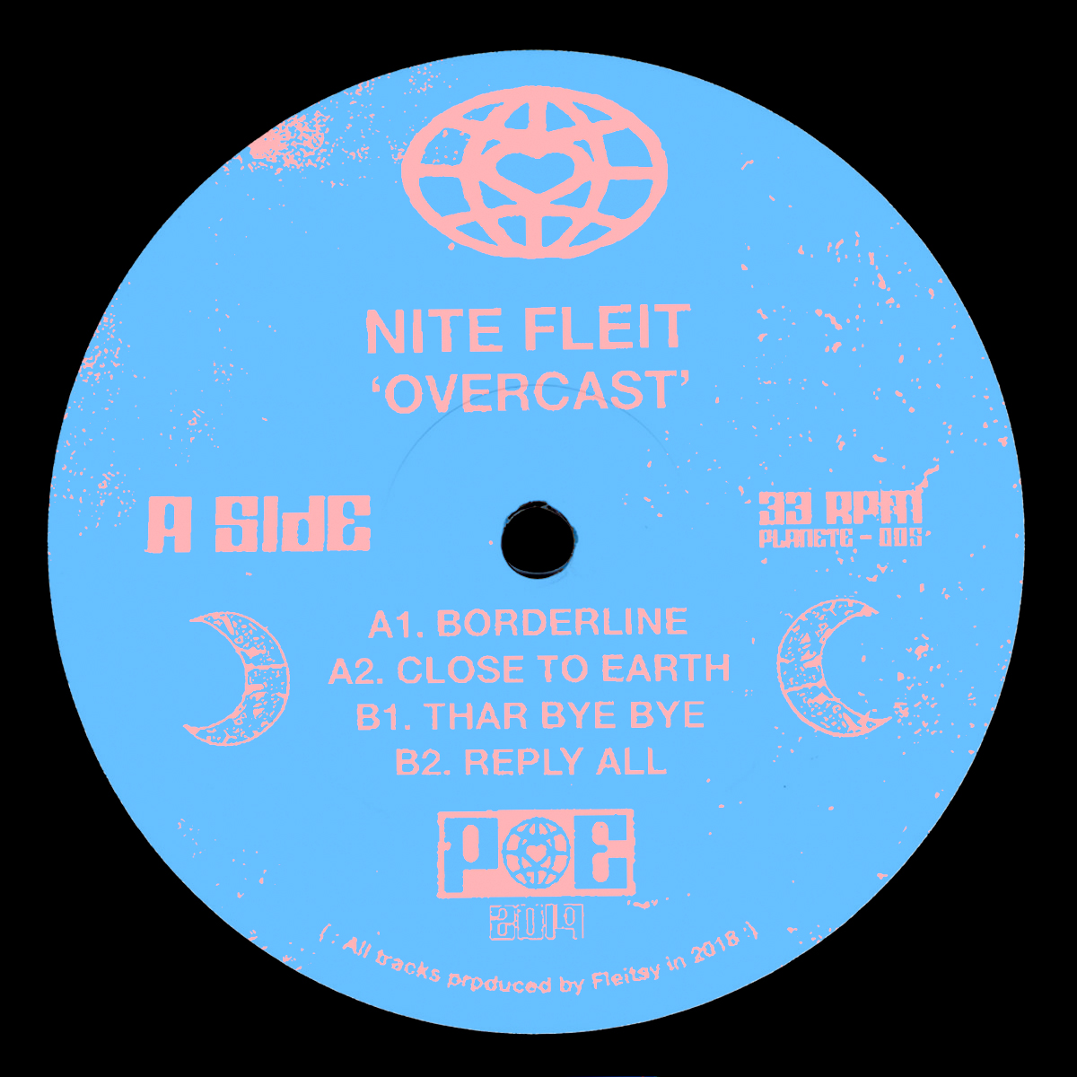 "Nite Fleit/OVERCAST EP 12"""