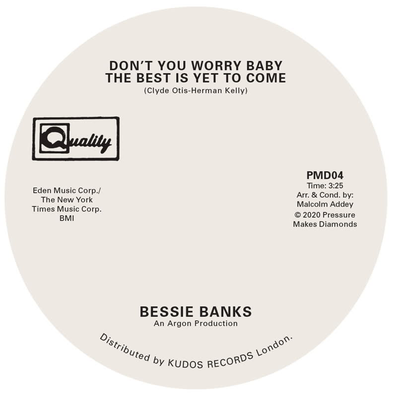 Bessie Banks/DON'T YOU WORRY BABY... 7""
