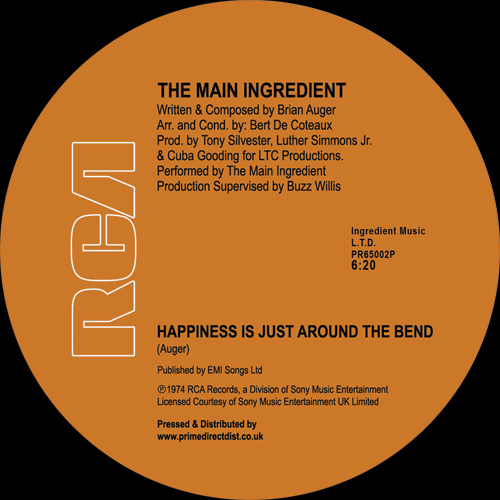 Main Ingredient/HAPPINESS IS JUST... 12""
