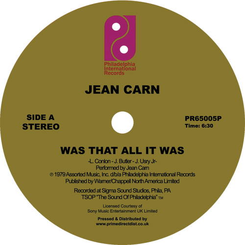 """Jean Carne/WAS THAT ALL IT WAS 12"""""""