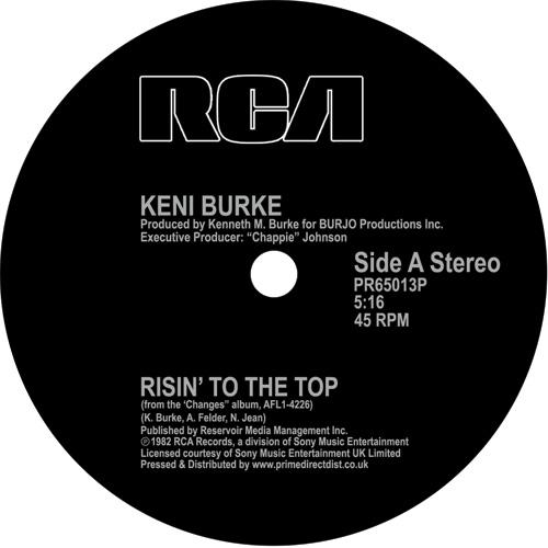 "Keni Burke/RISIN' TO THE TOP 12"""