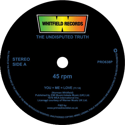 """Undisputed Truth/YOU + ME = LOVE 12"""""""