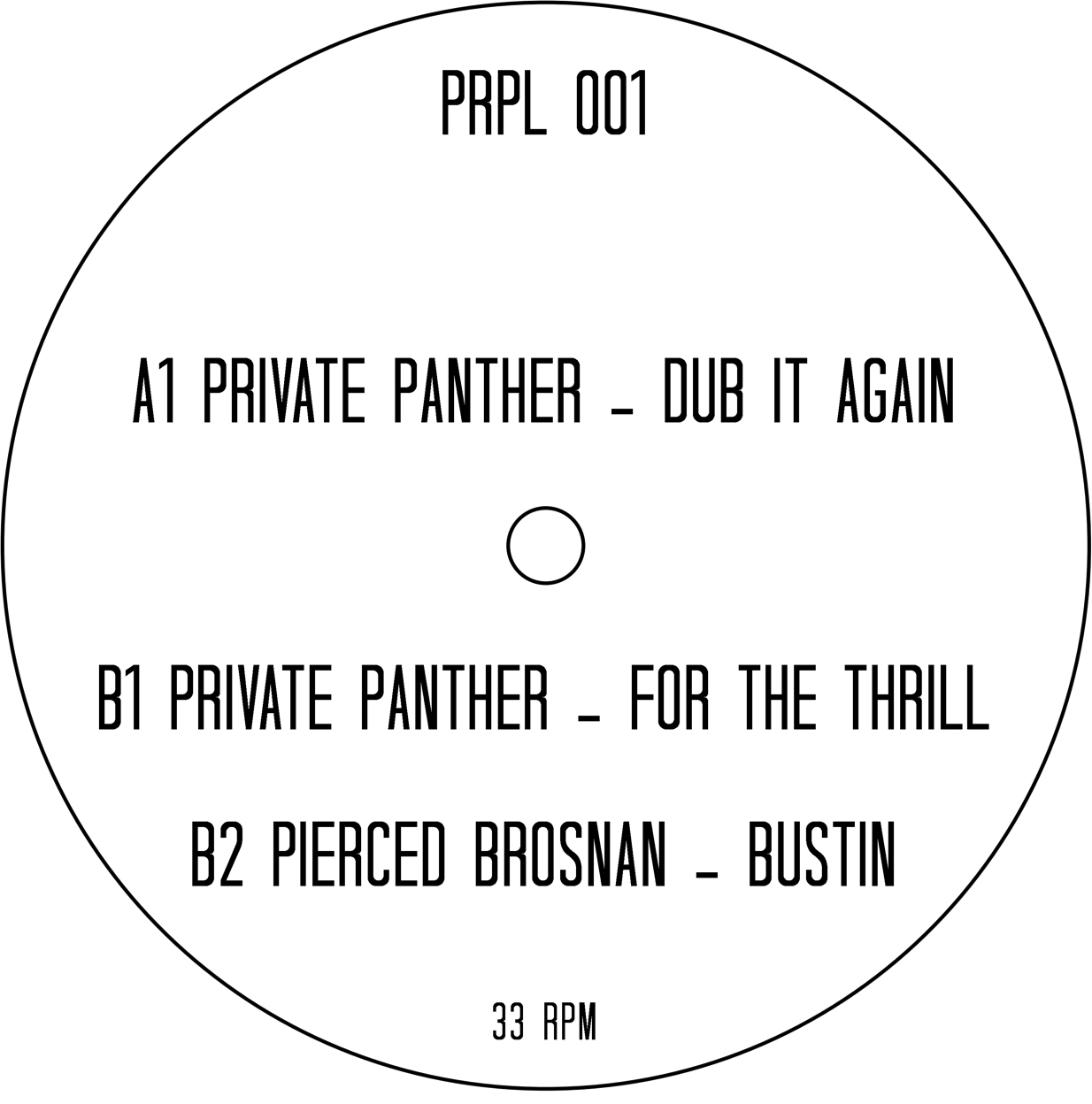 """Private Panther/DUB IT AGAIN 12"""""""