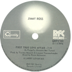 Jimmy Ross/FIRST TRUE LOVE AFFAIR 12""