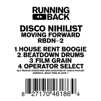 "Disco Nihilist/MOVING FORWARD 12"""