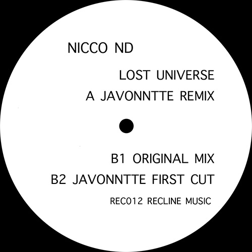 "Nicco ND/LOST UNIVERSE-JAVONNTTE RMX 12"""