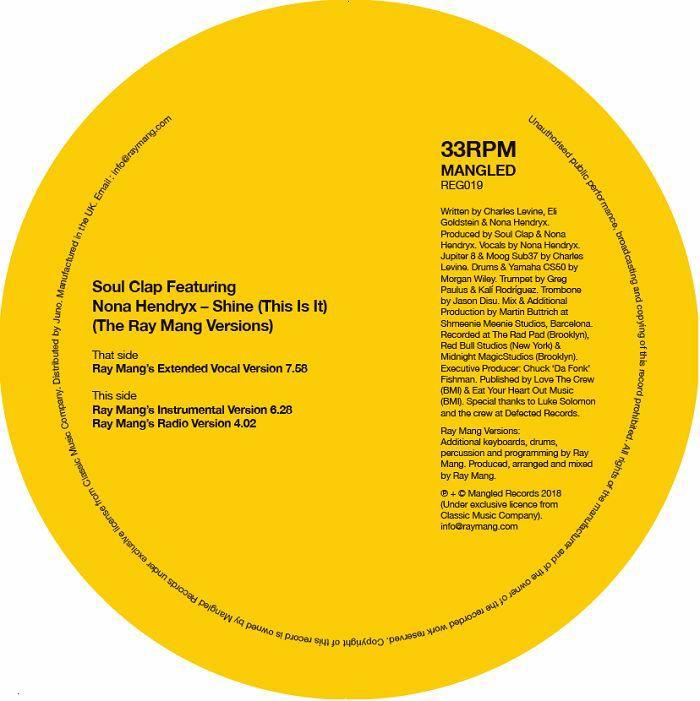 """Soul Clap/SHINE (RAY MANG REMIX) 12"""""""