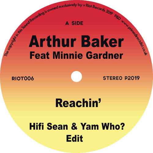 Arthur Baker/REACHIN' (YAM WHO EDIT) 7""