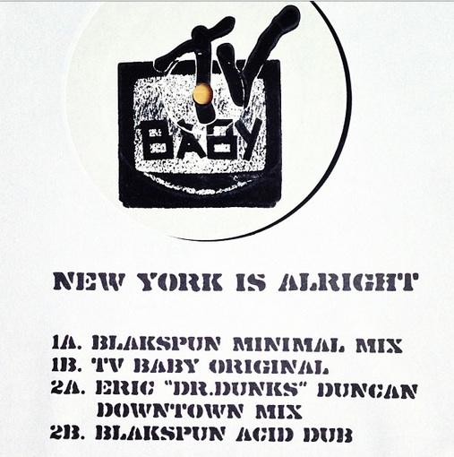 "TV Baby/NY IS ALRIGHT ORIG MIX 12"""