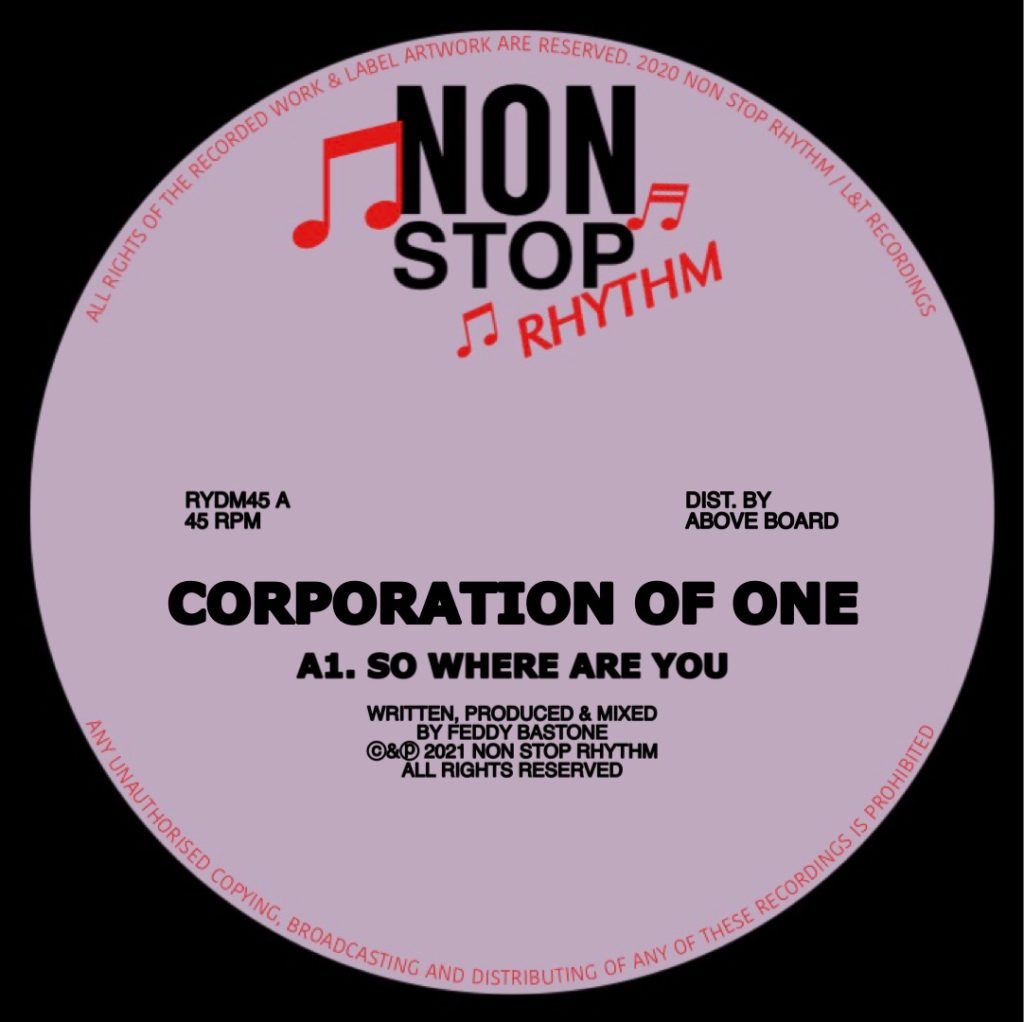 """Corporation Of One/SO WHERE ARE YOU 12"""""""