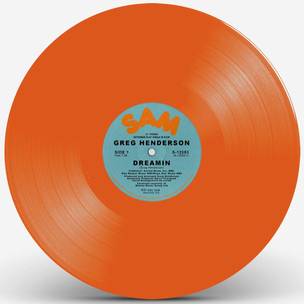 """Greg Henderson/DREAMIN (ORANGE) 12"""""""