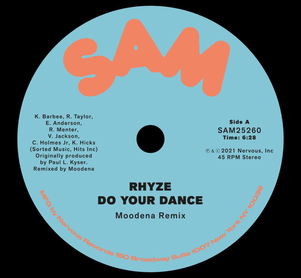 "Rhyze/DO YOUR DANCE (MOODENA REMIX) 12"""