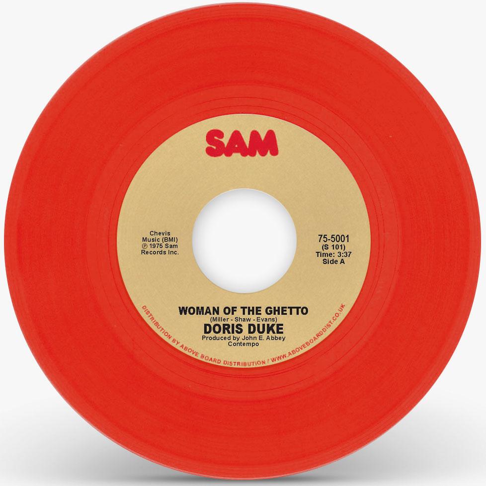 "Doris Duke/WOMAN OF THE GHETTO (RED) 7"""