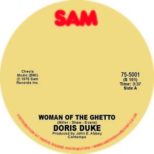 "Doris Duke/WOMAN OF THE GHETTO 7"""
