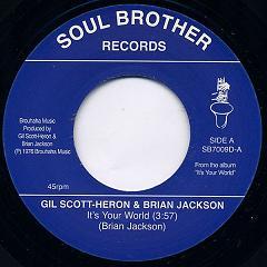 "Gil Scott-Heron/ITS YOUR WORLD-WINTER 7"""