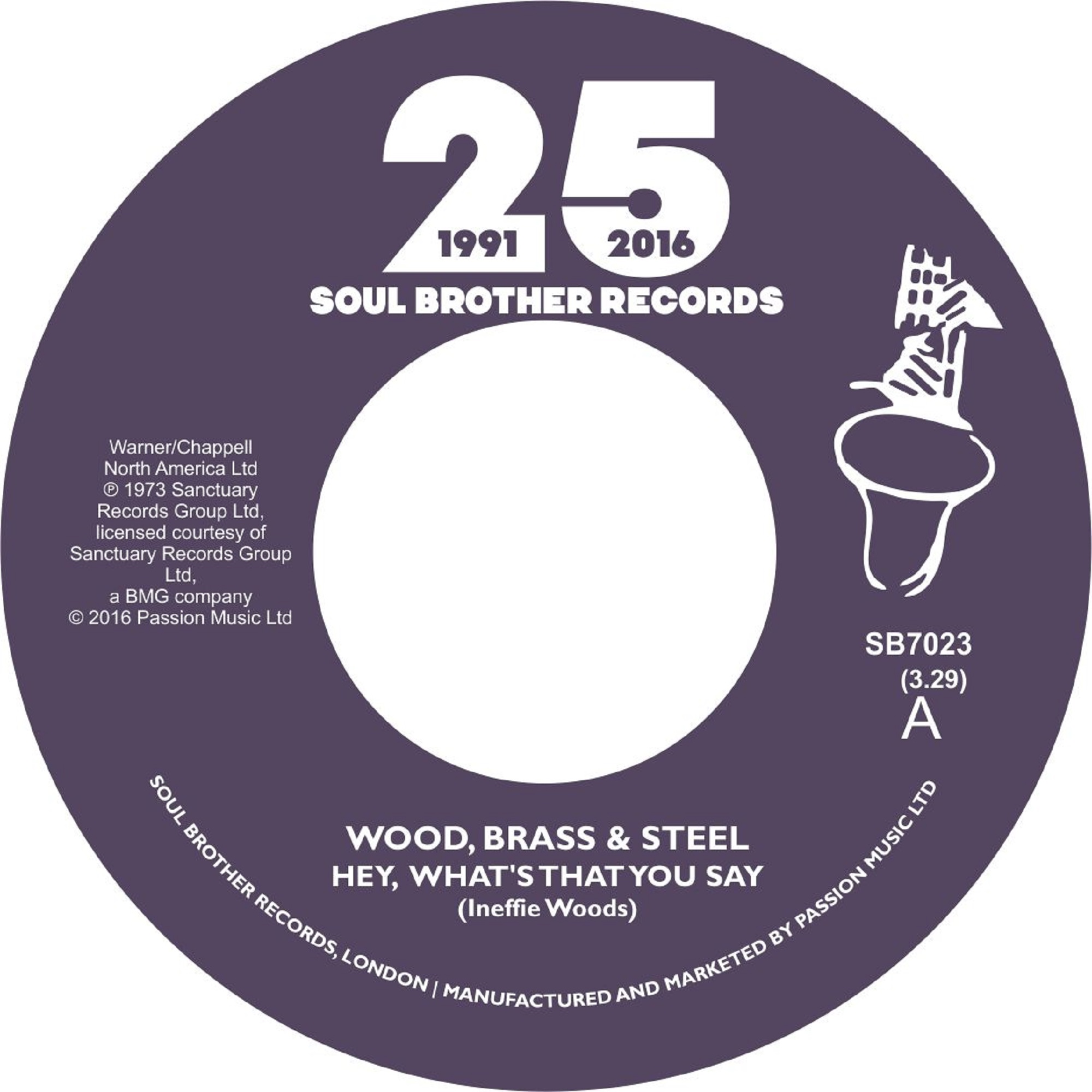 Wood, Brass & Steel/HEY WHAT'S THAT 7""