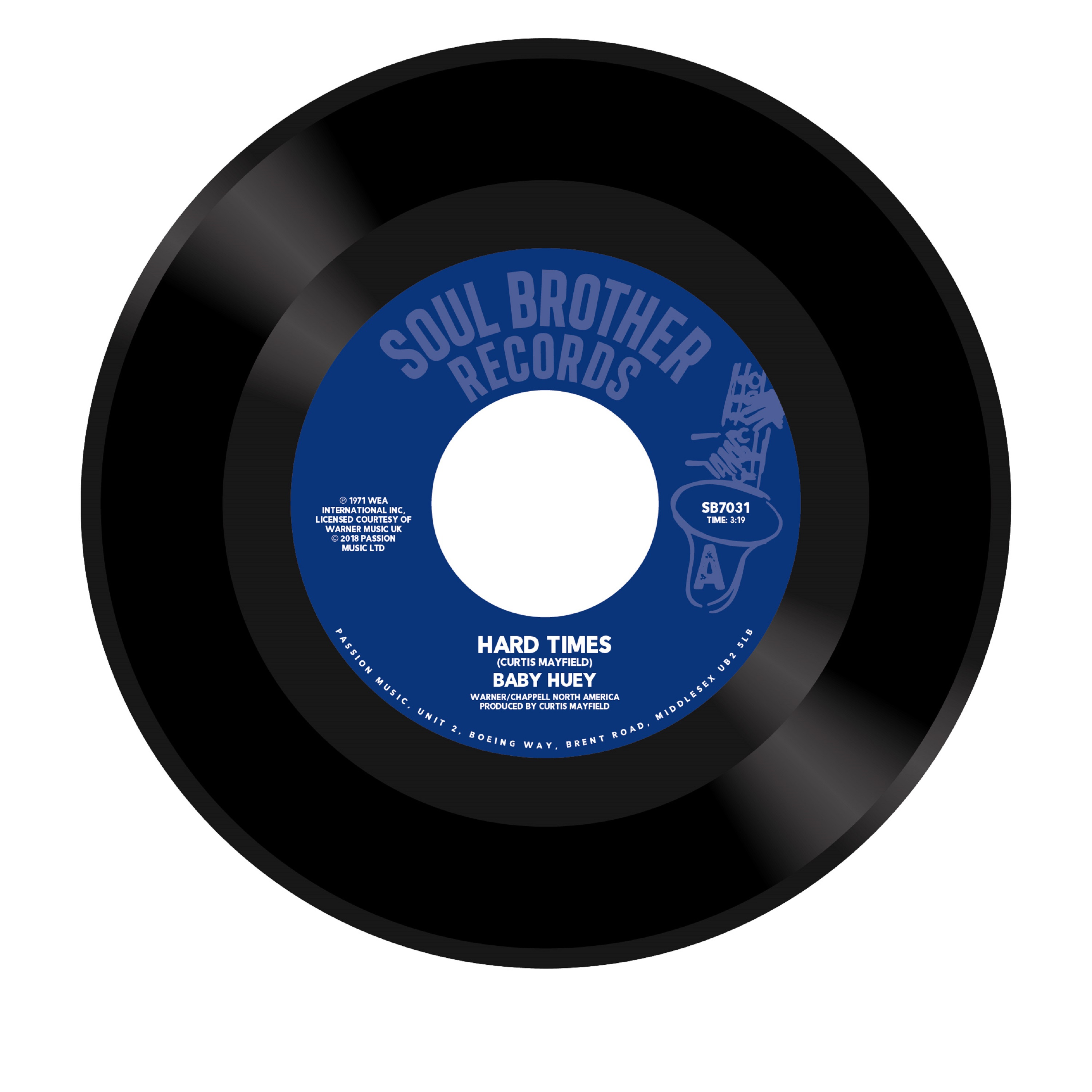Baby Huey/HARD TIMES & LISTEN TO ME 7""