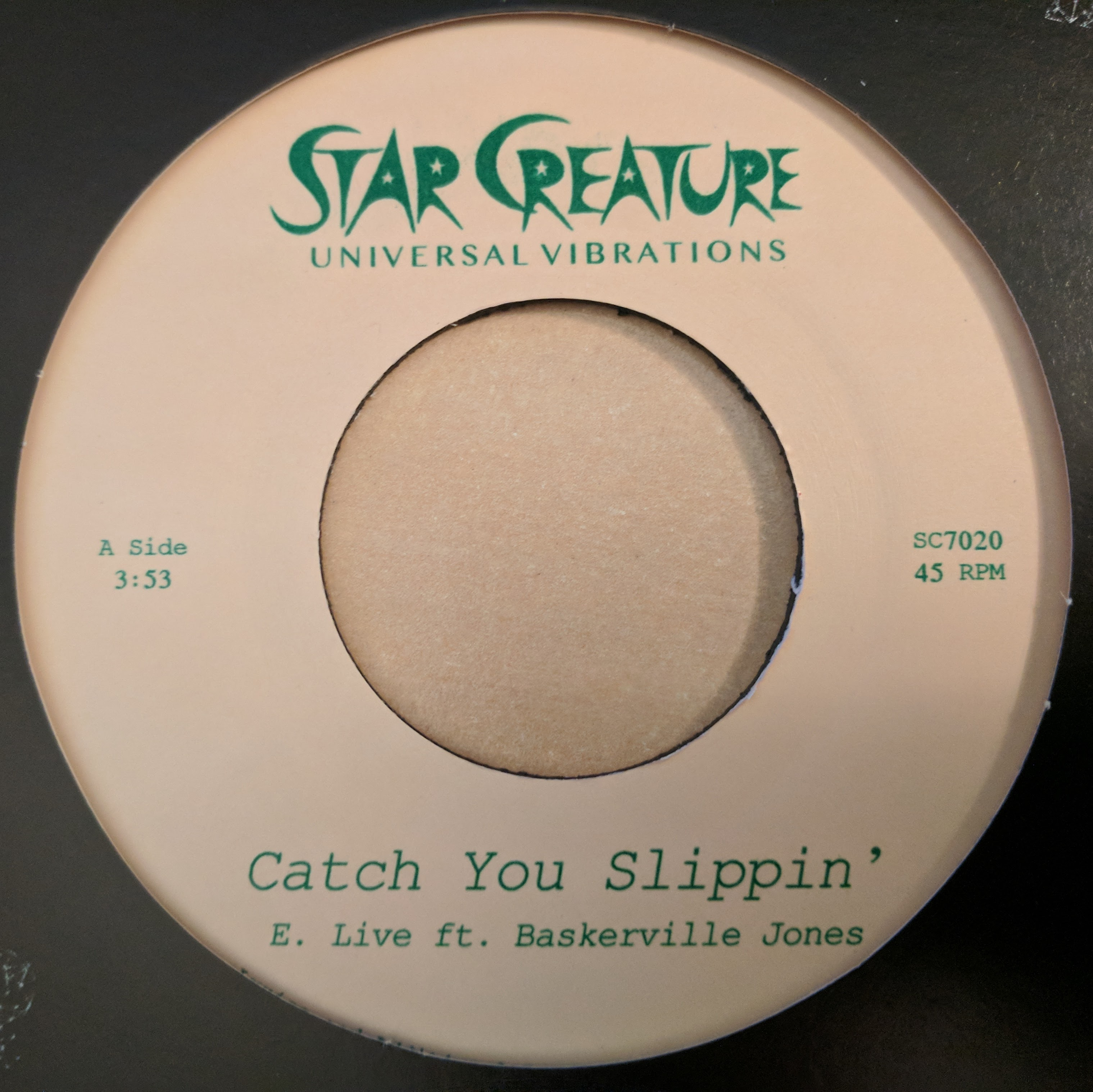 E. Live/CATCH YOU SLIPPIN' 7""