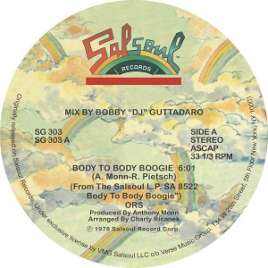 """ORS/BODY TO BODY BOOGIE 12"""""""