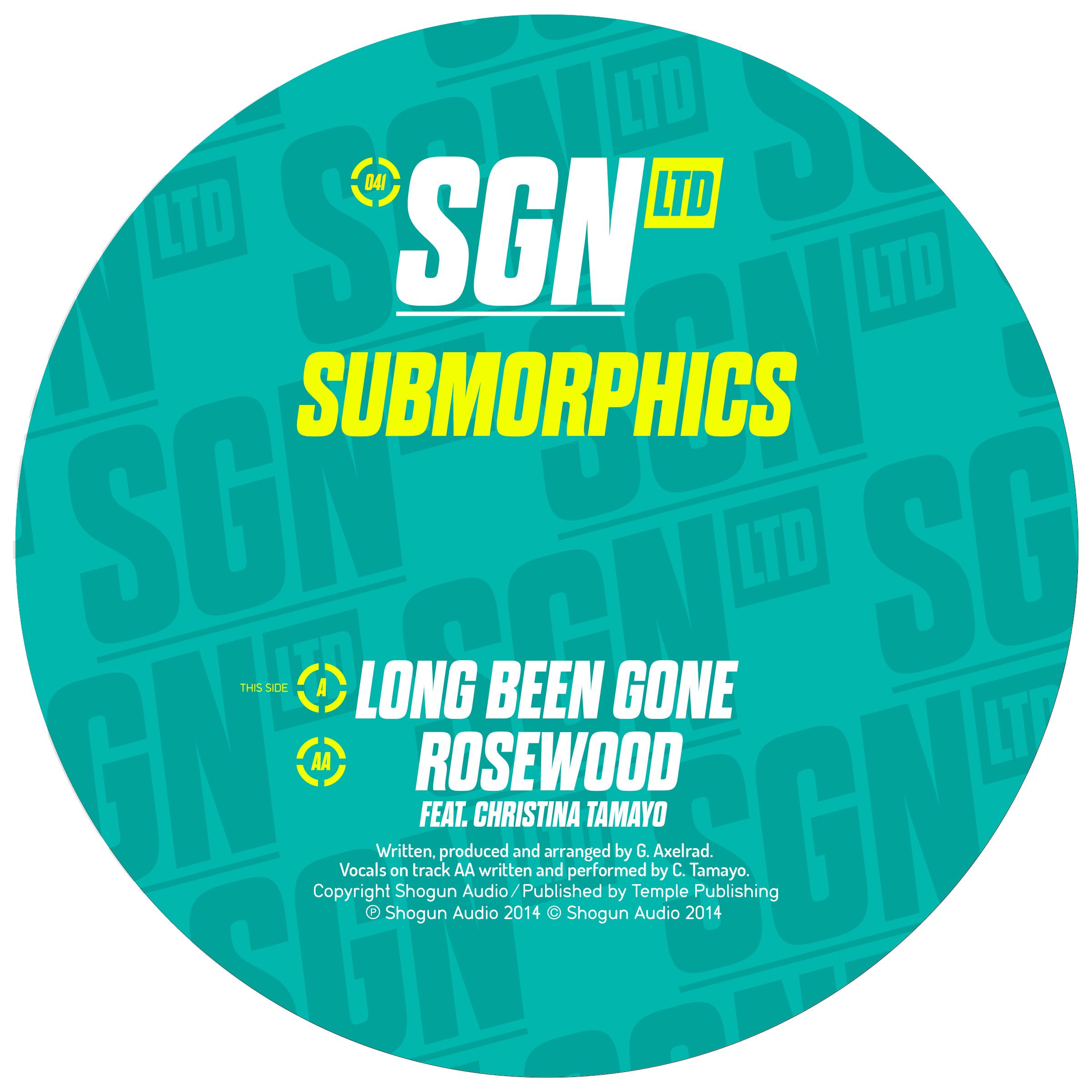 """Submorphics/LONG BEEN GONE 12"""""""