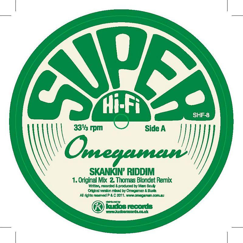 """Omegaman/SKANKIN' RIDDIM  12"""""""