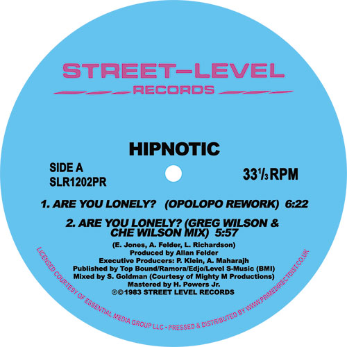 """Hipnotic/ARE YOU LONELY REMIXES 12"""""""