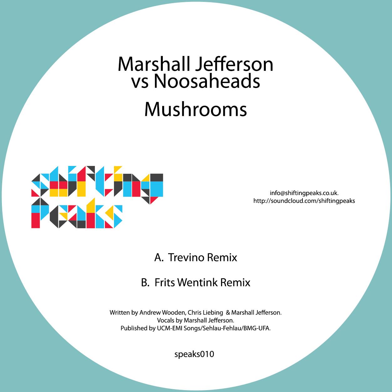 "Marshall Jefferson/MUSHROOMS-2012 RX 12"""