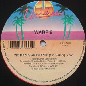 Warp 9/NO MAN IS AN ISLAND 12""