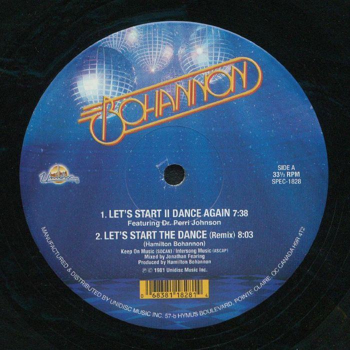 """Bohannon/LET'S START THE DANCE 12"""""""
