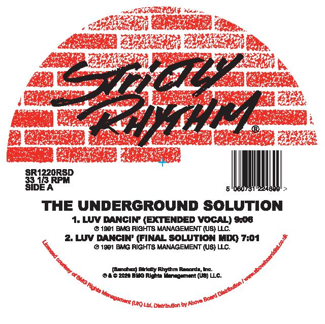 "Underground Solution/LUV DANCIN-RSD D12"""