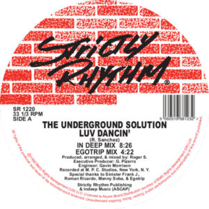 Underground Solution/LUV DANCIN' 12""