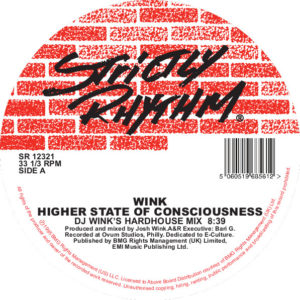 Wink/HIGHER STATE OF CONSCIOUSNESS 12""
