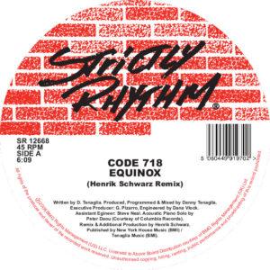 """Code 718/EQUINOX (HENRIK SCHWARZ RX) 12"""""""