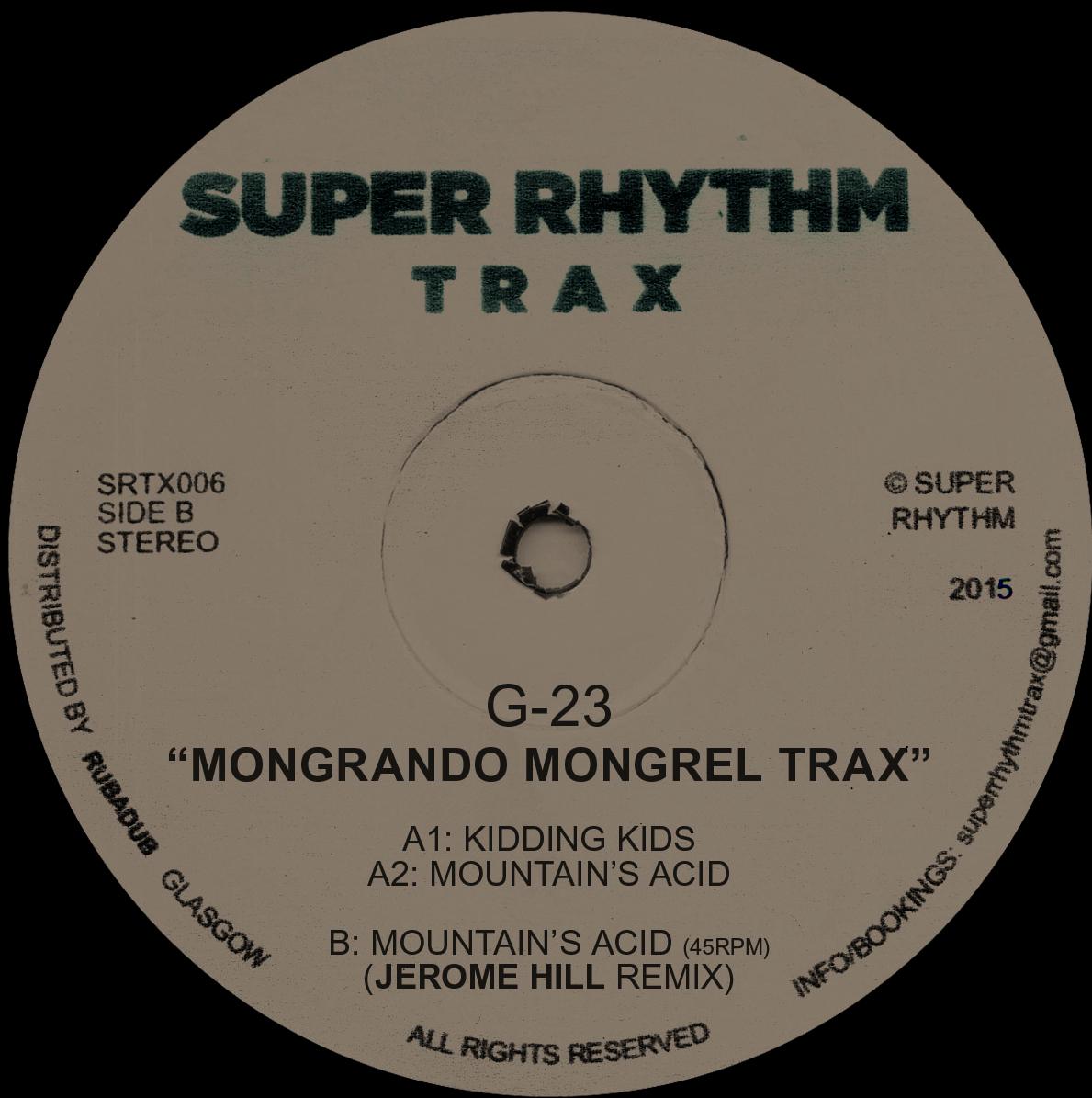 "G-23/MONGRANDO MONGREL TRAX 12"""